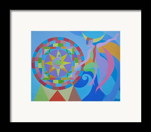 Fantasy Framed Print featuring the painting Well Of Fate by Seema Gill