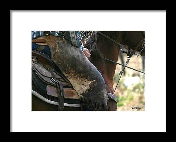Cowboy Framed Print featuring the photograph Well Used Chinks.. by Carol Miller