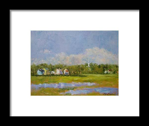 Framed Print featuring the painting Wells Maine by Elaine Bigelow
