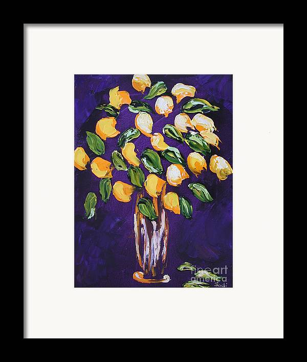 Floral Framed Print featuring the painting Wendy by Sodi Griffin
