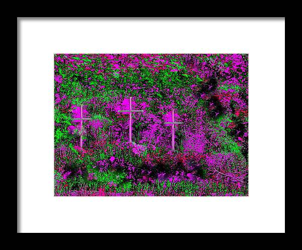 Crosses Framed Print featuring the photograph Were You There by Lessandra Grimley