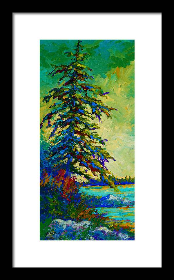 West Coastal Framed Print featuring the painting West Coast Sentinel by Marion Rose