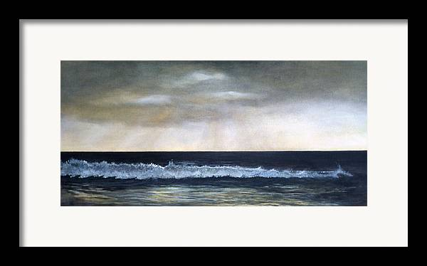 Stormy Sky Framed Print featuring the painting West Coast by Victoria Heryet