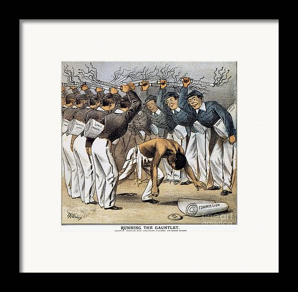 1880 Framed Print featuring the photograph West Point Cartoon, 1880 by Granger