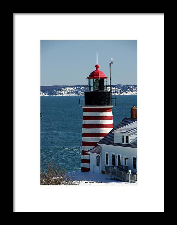 West Quoddy Framed Print featuring the photograph West Quoddy Head Light IIi by Carl Jackson