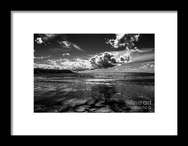 Llandudno Framed Print featuring the digital art West Shore by Chris Evans