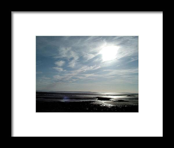 West Shore Llandudno North Wales Low Tide Framed Print featuring the photograph West Shore by John Bradburn