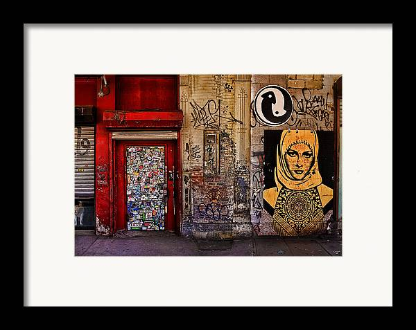 Graffitti Framed Print featuring the photograph West Village Wall Nyc by Chris Lord