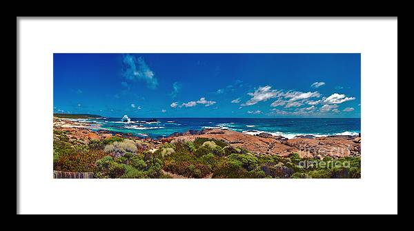 Boodjidup Beach Framed Print featuring the photograph Western Australia Beach Panorama by David Zanzinger