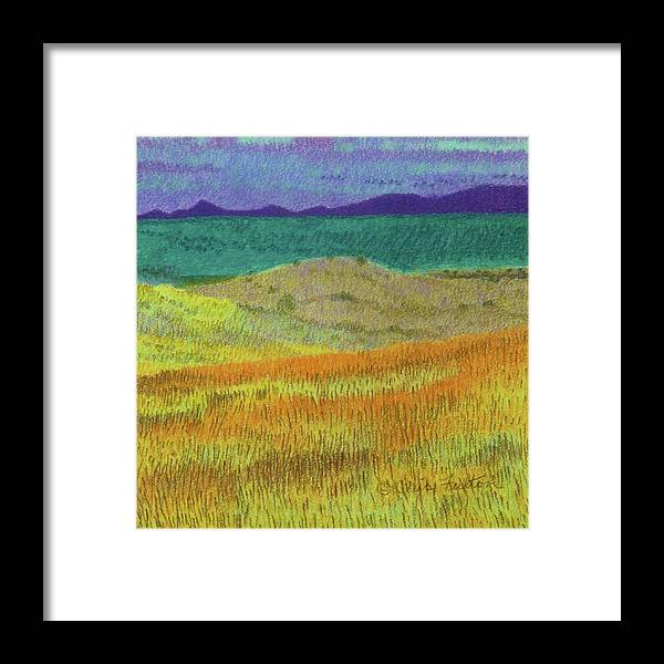 North Dakota Framed Print featuring the painting Western Edge Prairie Dream by Cris Fulton