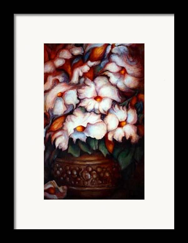 Flower Artwork Framed Print featuring the painting Western Flowers by Jordana Sands