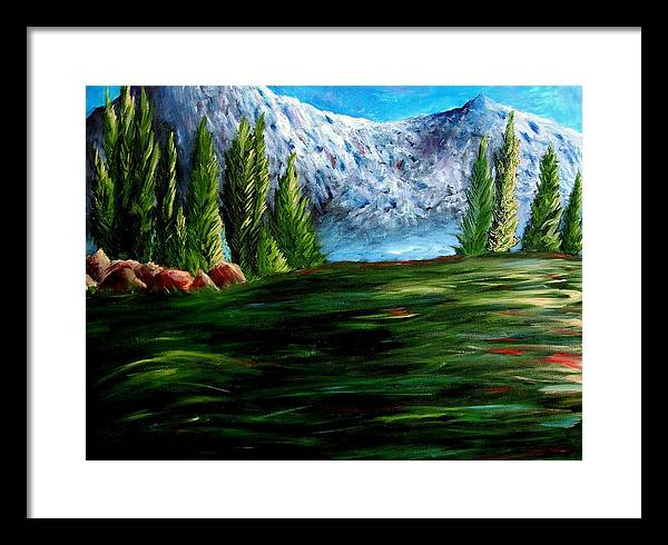 Landscape Framed Print featuring the painting Western Mountains by Brandon Sharp