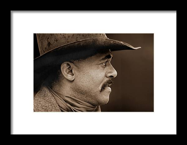 Horses Framed Print featuring the photograph Western Profile by Nick Sokoloff
