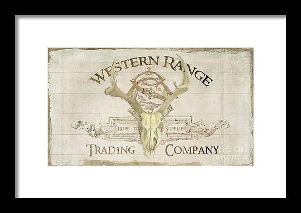 Western Range 3 Old West Deer Skull Wooden Sign Trading Company ...