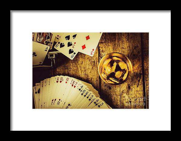 Betting Framed Print featuring the photograph Western Straight Shooter by Jorgo Photography - Wall Art Gallery