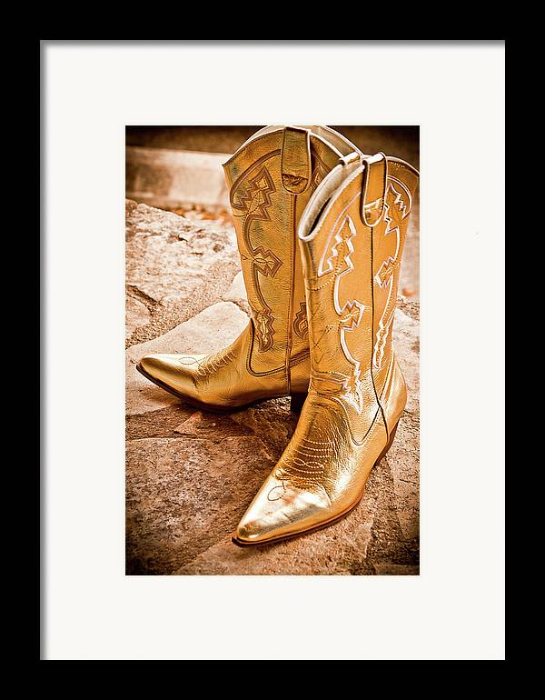 Boots Framed Print featuring the photograph Western Wear by Jill Smith
