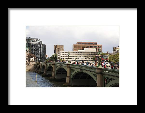 Westminster Framed Print featuring the photograph Westminster Bridge. by Christopher Rowlands