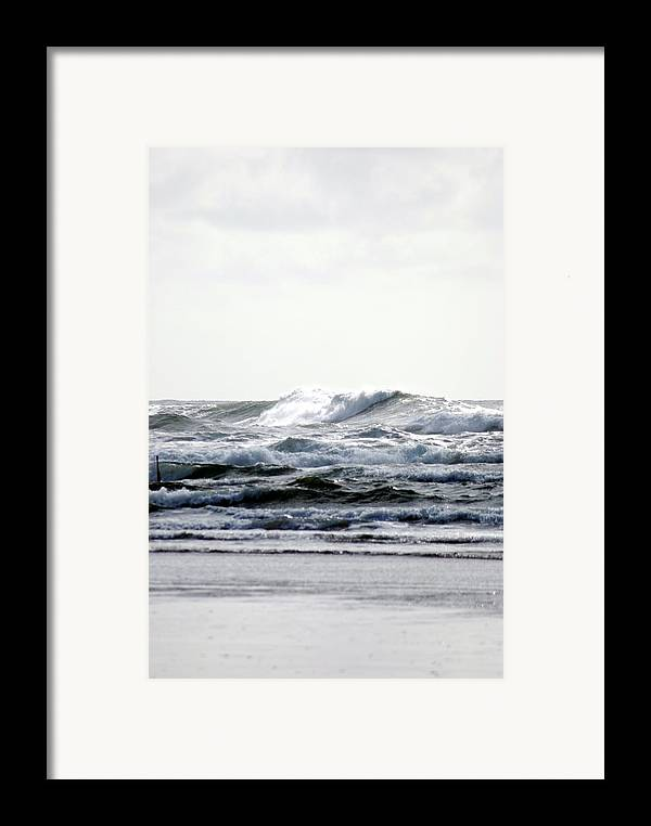 Framed Print featuring the photograph Westport Waves by JK Photography