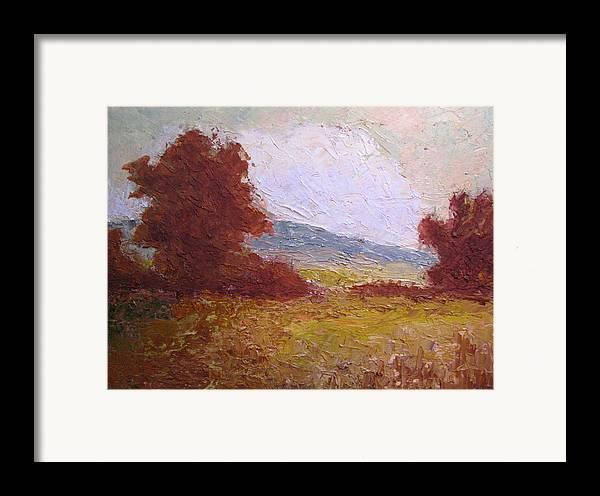 Western Landscape Framed Print featuring the painting Westward by Belinda Consten