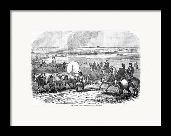 1858 Framed Print featuring the photograph Westward Expansion, 1858 by Granger