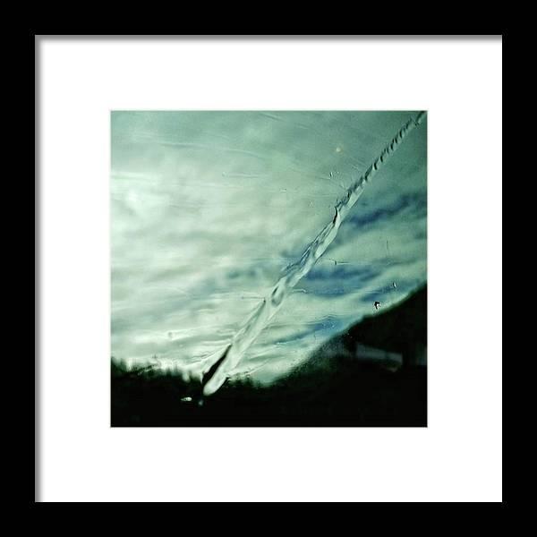 Glass Framed Print featuring the photograph Wet Lightning #sky #water #rainy #rain by Rafa Rivas