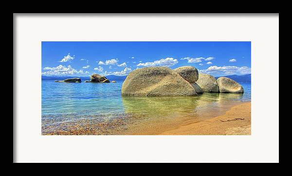 Whale Beach Framed Print featuring the photograph Whale Beach Lake Tahoe by Brad Scott