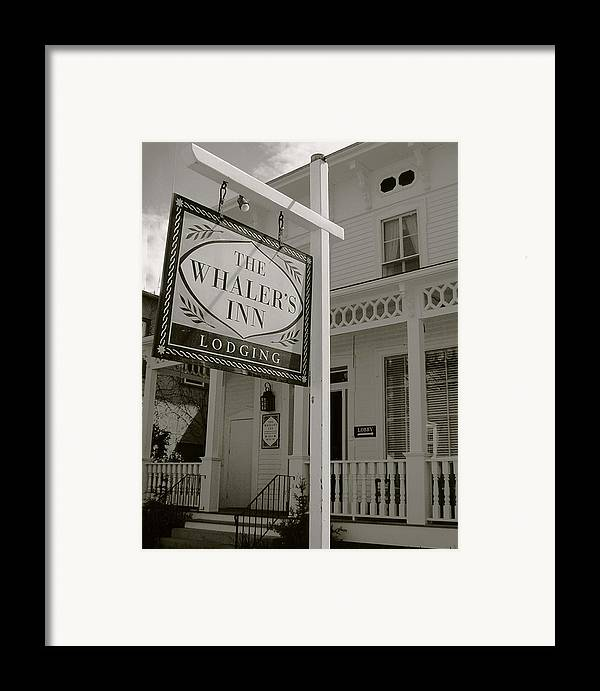Mystic Framed Print featuring the photograph Whaler's Inn by Heather Weikel