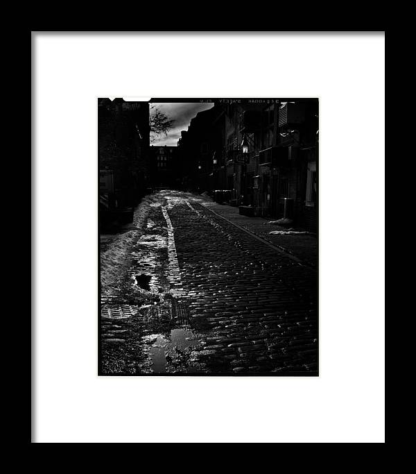 Black And White Framed Print featuring the photograph Wharf Street by Filipe N Marques