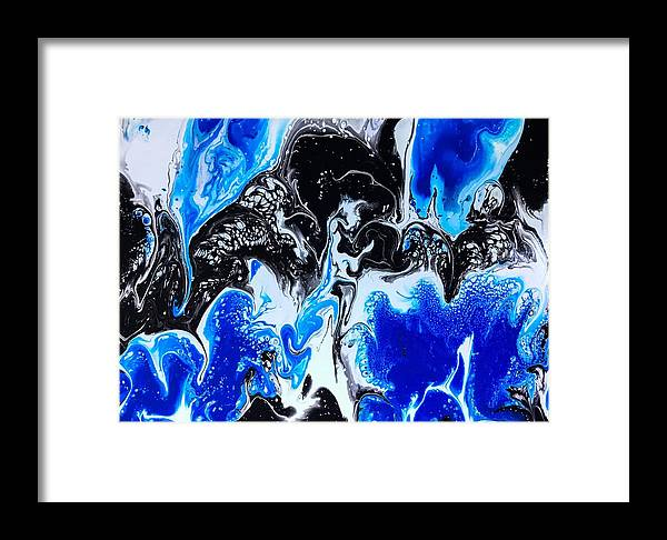 Abstract Framed Print featuring the painting What Can You See by Stephen Wheeler