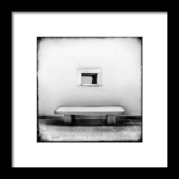 Bench Framed Print featuring the photograph What Confines You by Dana DiPasquale