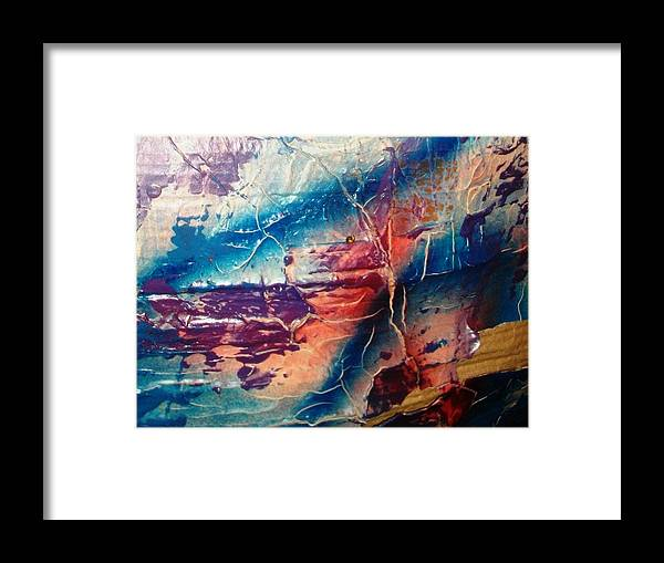 Abstract Framed Print featuring the painting What Have We Done To The Sea by Bruce Combs - REACH BEYOND