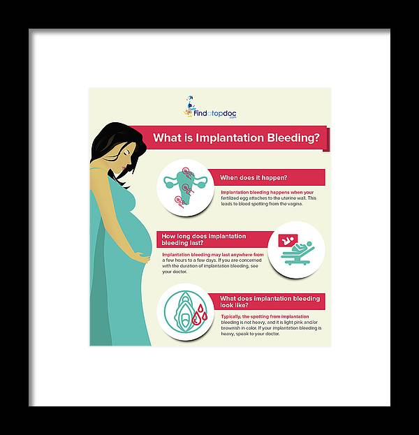 What Is Implantation Bleeding? Framed Print
