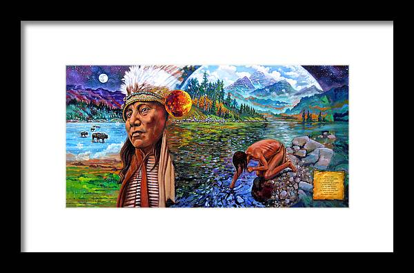 Indian Framed Print featuring the painting What Is Life by John Lautermilch