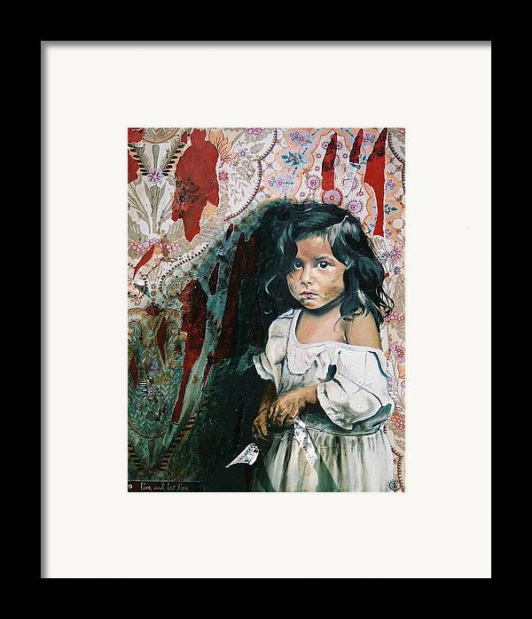 Asian Girl Framed Print featuring the painting What Is My Worth by Teresa Carter
