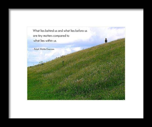Affirmation Framed Print featuring the photograph What Lies Behind And Before by Jen White