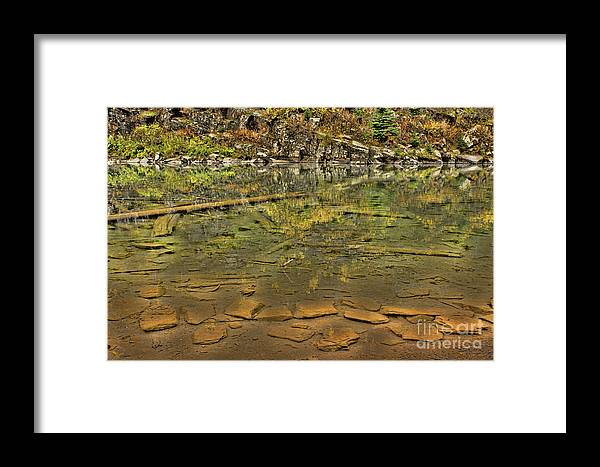 Lake Framed Print featuring the photograph What Lies Beneath by Steven Parker