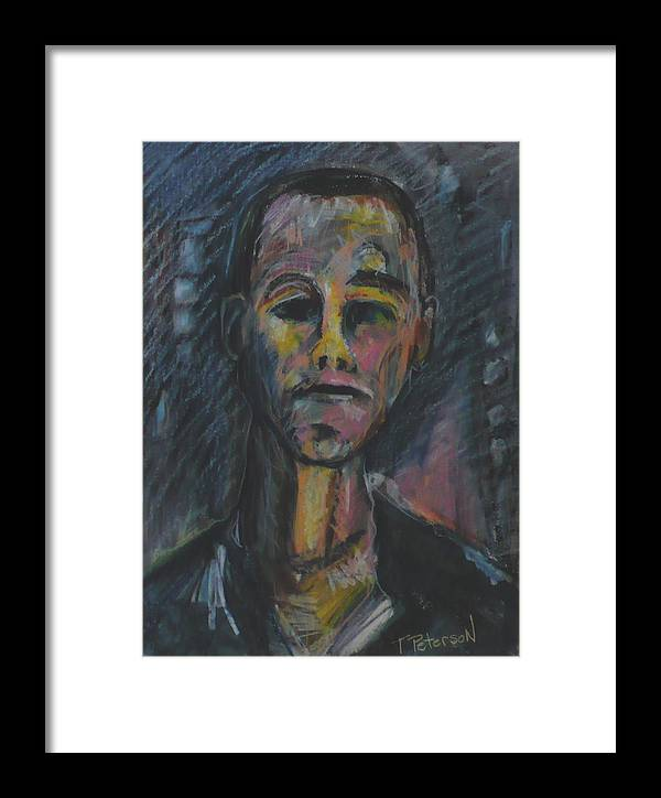 Portrait Framed Print featuring the painting What Now He Asks by Todd Peterson