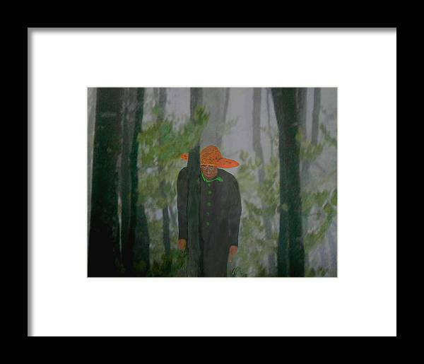 Alone In The Woods Framed Print featuring the digital art What Now by Jerry White