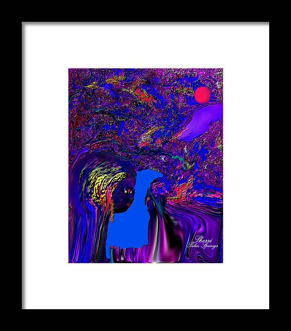 Planet Painting..alien Fun Painting Framed Print featuring the digital art What Planet Are You Going To by Sherri's - Of Palm Springs