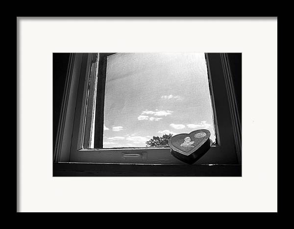 Window Framed Print featuring the photograph What Remains by Ted M Tubbs