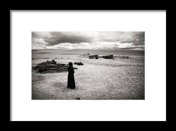 Infrared Framed Print featuring the photograph What Was by Carl Young