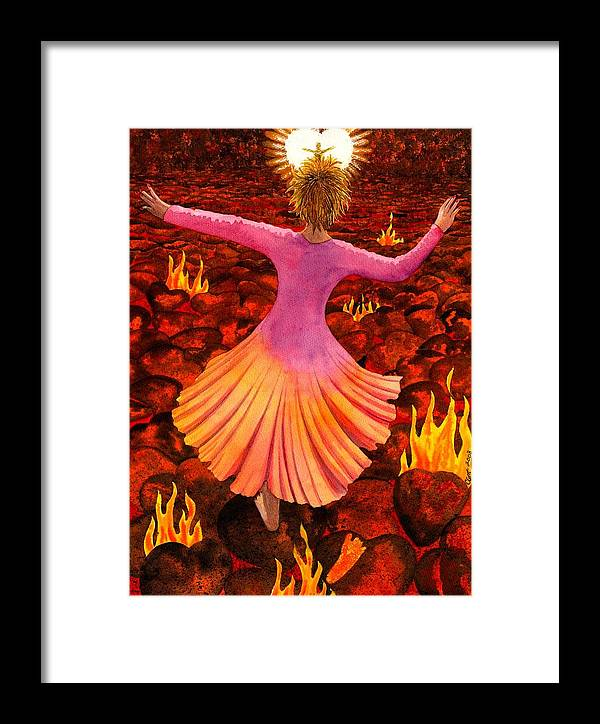 Valentine Framed Print featuring the painting What We Do For Love by Catherine G McElroy