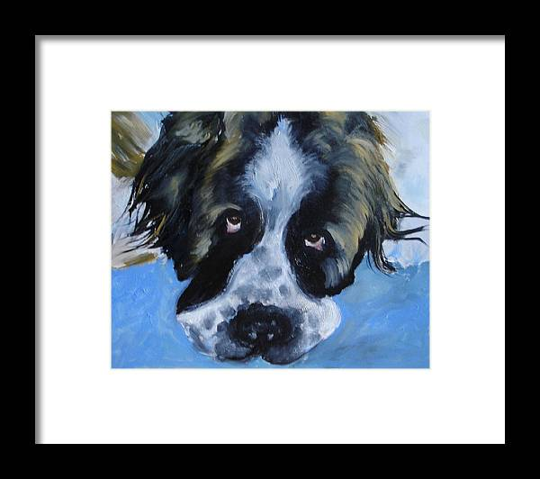 Dog Framed Print featuring the painting Whats Up by Laura Leigh McCall