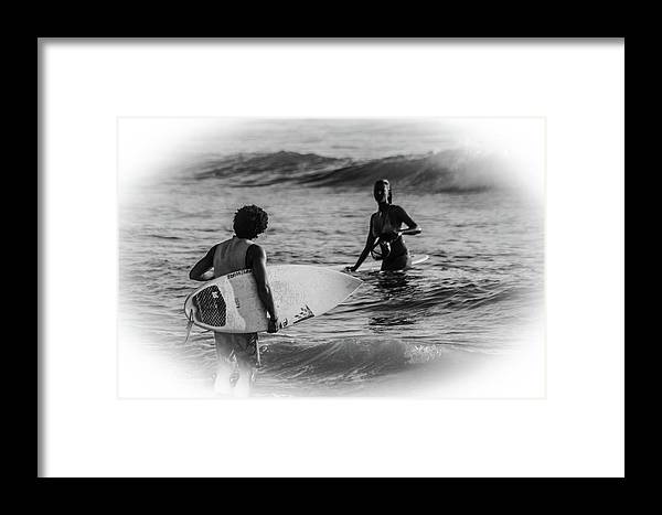 Surfer Framed Print featuring the photograph What's Up Surfer Girl by Ola Allen