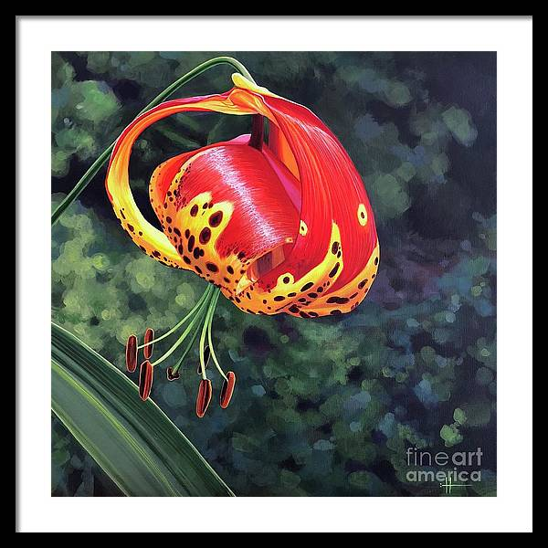 Tigerlily Framed Print featuring the painting What's Up, Tigerlily? by Hunter Jay