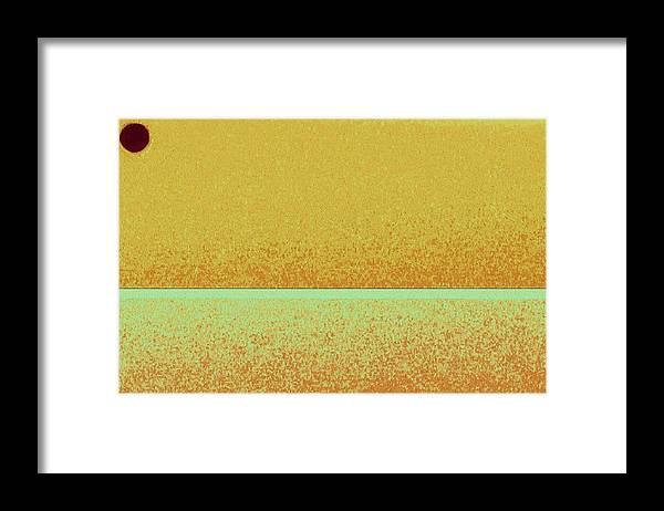 Pastel Framed Print featuring the mixed media Wheat field by Joseph Ferguson