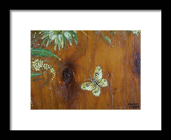 Wildflowers Framed Print featuring the painting Wheat 'n' Wildflowers II by Phyllis Mae Richardson Fisher