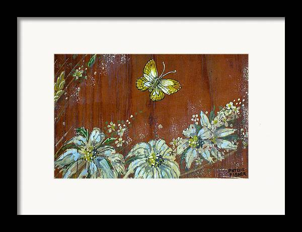 Wildflowers Framed Print featuring the painting Wheat 'n' Wildflowers IIi by Phyllis Mae Richardson Fisher