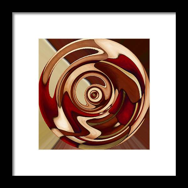 Red Framed Print featuring the painting Wheel 4 by Vicky Brago-Mitchell