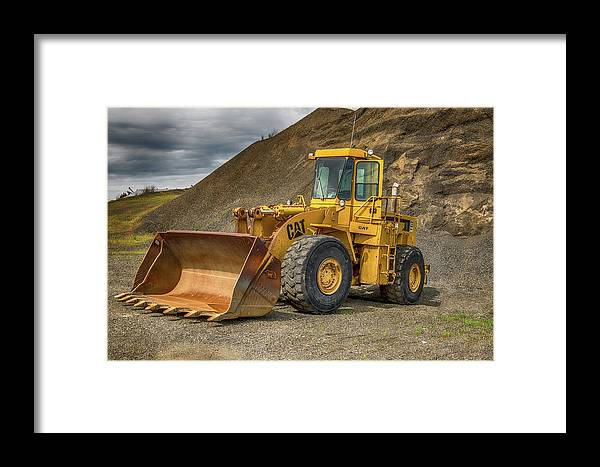 Wheel Loader Framed Print featuring the photograph Wheel Loader by Paul Freidlund